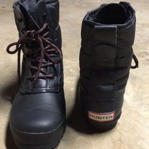 HUNTER Women's Snow/ Rain Boots ~ Black ~EUC